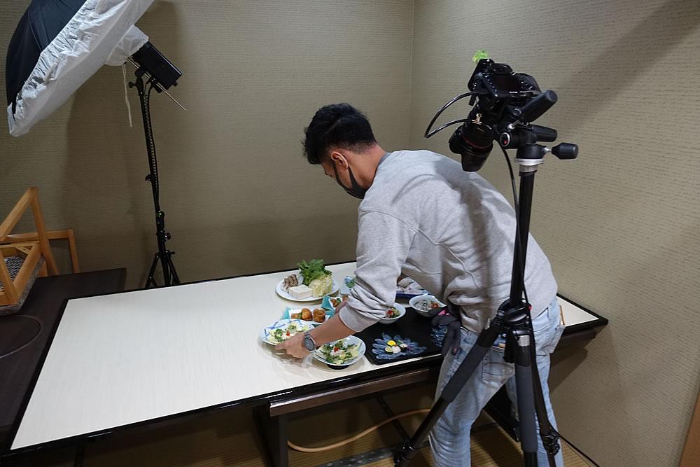 新メニュー撮影中 前田カメラマン
